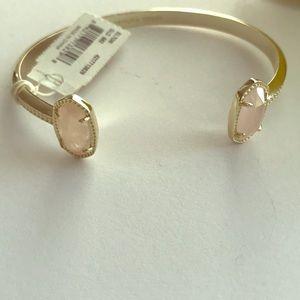NWT Kendra Scott bangle with light pink stones.